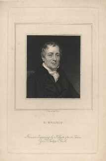 David Ricardo, by William Holl Jr, after  Thomas Phillips - NPG D5808