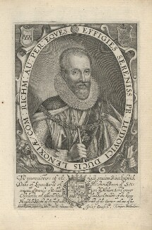 Ludovic Stuart, 1st Duke of Richmond and 2nd Duke of Lennox, by Simon de Passe, published by  Compton Holland - NPG D5813