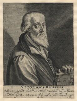 Nicholas Ridley, by Magdalena de Passe, by  Willem de Passe - NPG D5817