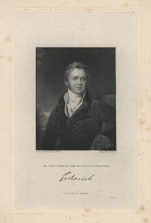 Frederick John Robinson, 1st Earl of Ripon, by Joseph John Jenkins, published by  Fisher Son & Co, after  Sir Thomas Lawrence, published 1830 (circa 1823) - NPG D5822 - © National Portrait Gallery, London