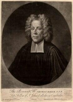 Thomas Baker, by John Simon, after  Charles Bridges - NPG D585