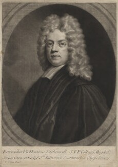 Henry Sacheverell, by Andrew Johnston, after  Thomas Gibson - NPG D5868
