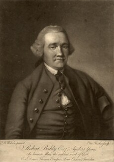 Robert Baldy, by Edward Fisher, after  Benjamin Wilson - NPG D588