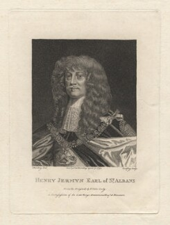Henry Jermyn, Earl of St Albans, by Richard Godfrey, published by  E. & S. Harding, after  Silvester (Sylvester) Harding, after  Sir Peter Lely - NPG D5881