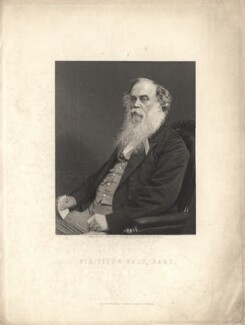 Sir Titus Salt, by William Holl Jr, published by  William Mackenzie, after a photograph by  Appleton & Co - NPG D5896