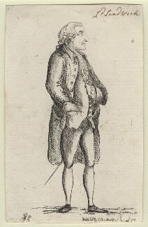 John Montagu, 4th Earl of Sandwich, by James Sayers, published by  Charles Bretherton - NPG D5900
