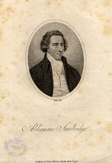 John Sawbridge, by William Ridley, published by  Vernor & Hood - NPG D5912