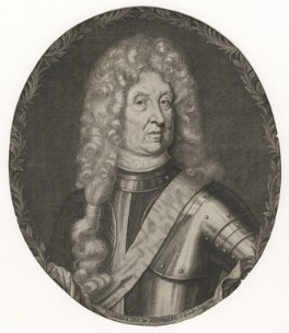 Frederick Herman de Schomberg, 1st Duke of Schomberg, by Simon Gribelin, after  Michael Dahl - NPG D5917