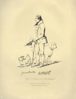 Sir Walter Scott, 1st Bt, by Daniel Maclise, printed by  Engelmann, Graf, Coindet & Co, published by  James Fraser - NPG D5926