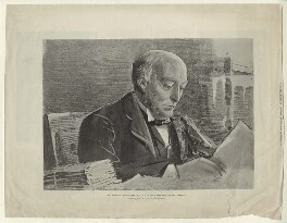 William Court Gully, 1st Viscount Selby, published by Illustrated London News, after  Sir Robert Ponsonby Staples, Bt - NPG D5930