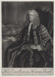 Henry Boyle, 1st Earl of Shannon, by John Brooks, published by  Thomas Jefferys, published by  William Herbert - NPG D5946