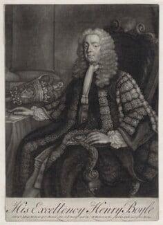 Henry Boyle, 1st Earl of Shannon, by John Brooks, published by  Thomas Jefferys, published by  William Herbert - NPG D5946