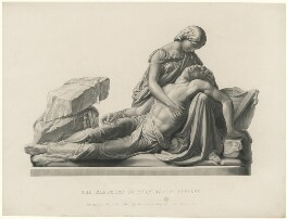Mary Wollstonecraft Shelley; Percy Bysshe Shelley, by George J. Stodart, after a monument by  Henry Weekes - NPG D5956