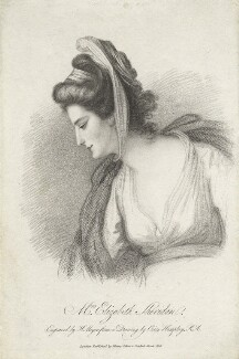 Elizabeth Ann Sheridan (née Linley), by Henry Meyer, published by  Henry Colburn, after  Ozias Humphry - NPG D5972