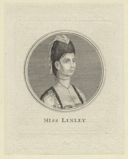 Elizabeth Ann Sheridan (née Linley) when Miss Linley, after Unknown artist, 1770s-1780s - NPG D5974 - © National Portrait Gallery, London