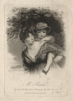 Esther Jane Sheridan (née Ogle); Charles Sheridan, by Henry Meyer, published by  Henry Colburn, after  John Hoppner - NPG D5976