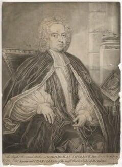 Thomas Sherlock when Bishop of Salisbury, by Lelius, after  Jones - NPG D5977