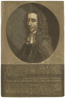 Algernon Sidney, by John Baptist Jackson, after  Justus van Egmont - NPG D5983