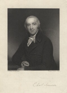 Charles Simeon, by William Finden, after  Sir William Beechey - NPG D5985