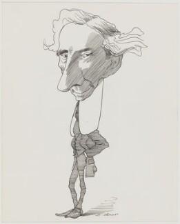 Bertrand Arthur William Russell, 3rd Earl Russell, by David Levine - NPG D62