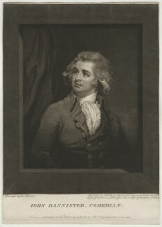 John Bannister, by and published by John Raphael Smith, after  Mather Brown - NPG D622