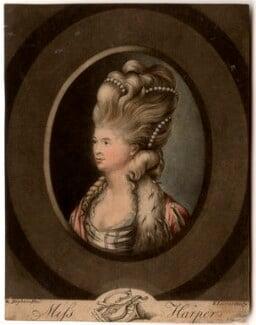 Elizabeth Bannister (née Harpur), by Robert Laurie, after  Robert Dighton - NPG D625