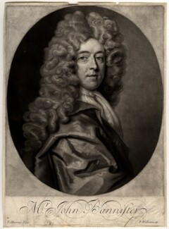 John Banister, by Robert Williams, after  Thomas Murray, late 17th century - NPG D626 - © National Portrait Gallery, London