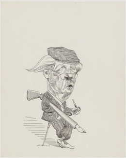 Harold Macmillan, 1st Earl of Stockton, by David Levine - NPG D63