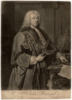 Sir John Barnard, by John Faber Jr, after  Allan Ramsay - NPG D633