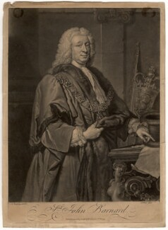 Sir John Barnard, by John Faber Jr, after  Allan Ramsay - NPG D634