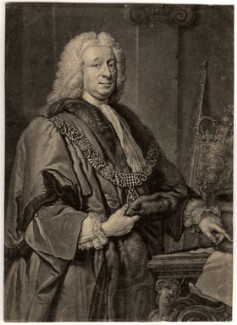 Sir John Barnard, by John Faber Jr, after  Allan Ramsay - NPG D635