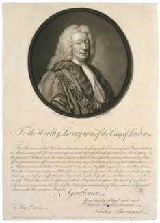 Sir John Barnard, by James Macardell, after  Allan Ramsay - NPG D636