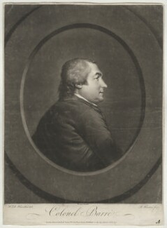 Isaac Barré, by Richard Houston, after  Hugh Douglas Hamilton - NPG D640