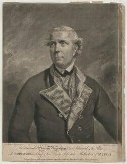 Samuel Barrington, by Richard Earlom, printed for  Robert Sayer, printed for  John Bennett, after  Sir Joshua Reynolds - NPG D641