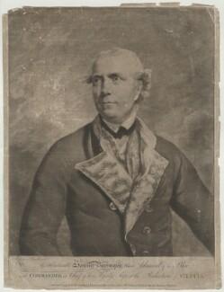 Samuel Barrington, by Richard Earlom, printed for  Robert Sayer, printed for  John Bennett, after  Sir Joshua Reynolds - NPG D642