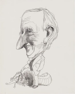 Bernard Miles, by David Levine - NPG D65
