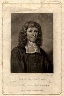 Isaac Barrow, by Richard Earlom, after  David Loggan - NPG D650