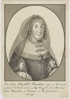 Elizabeth (née Thorowgood), Lady Rawdon (Roydon), possibly by George Perfect Harding, possibly by  William Trabute - NPG D6573