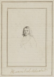 Hannibal Sehested, possibly by George Perfect Harding - NPG D6620