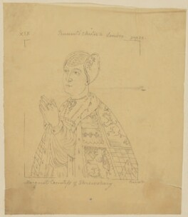 Margaret Talbot (née Beauchamp), Countess of Shrewsbury, by Sir George Scharf, after  Unknown artist - NPG D6627