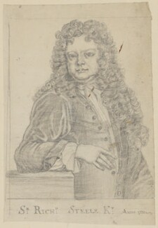Sir Richard Steele, after Sir Godfrey Kneller, Bt - NPG D6634