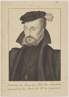 Antoine de Bourbon, King of Navarre, by Unknown artist - NPG D6695