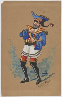 Unknown actor as a pirate, by Martin Byani - NPG D6703