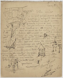 Sketches signed 'Ro Ro', by Unknown artist - NPG D6704