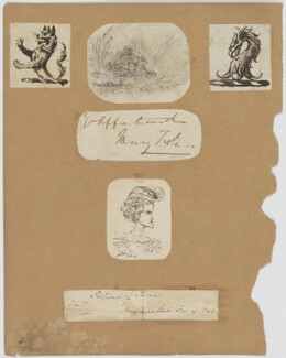Sketches, by Unknown artist - NPG D6707