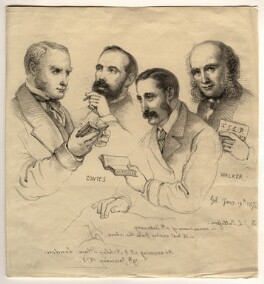 Sir George Scharf and friends, by Sir George Scharf - NPG D6713