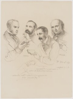 Sir George Scharf and friends, by Sir George Scharf - NPG D6714