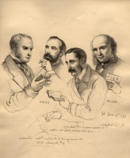 Sir George Scharf and friends, by Sir George Scharf - NPG D6715