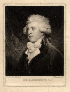 Sir George Howland Beaumont, 7th Bt, by Samuel William Reynolds, after  Sir Joshua Reynolds - NPG D672