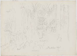 Sketches of Westminster Abbey, by Sir George Scharf - NPG D6720
